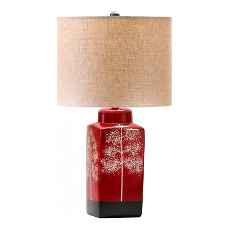 Cyan Designs Red Asian 1 Light Down Lighting Table Lamp from the Thomas Collection