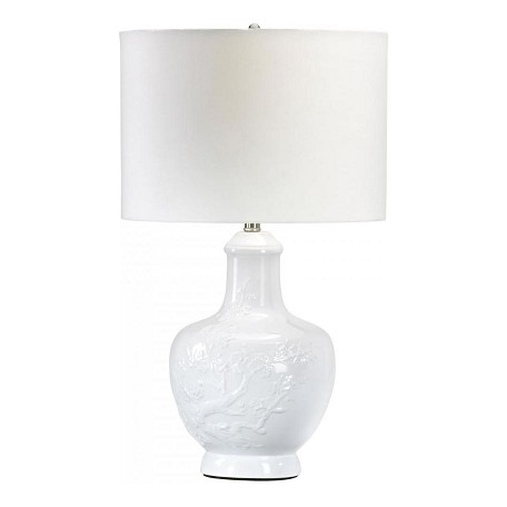 Cyan Designs White Asian 1 Light Down Lighting Table Lamp from the Carmel Collection