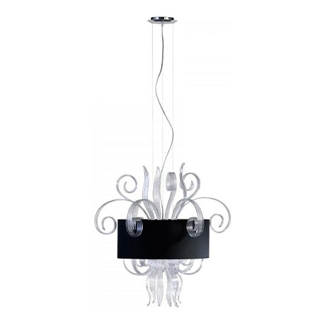 Cyan Designs Clear Glass 6 Light Down Lighting Pendant from the Cassina Collection