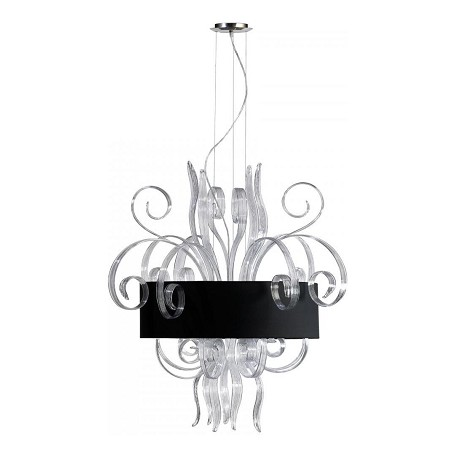 Cyan Designs Clear Glass 8 Light Down Lighting Pendant from the Cassina Collection