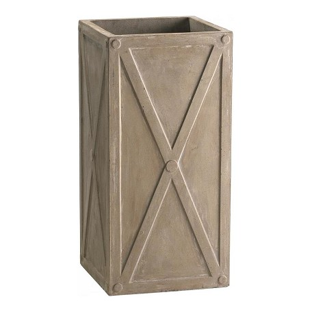 Cyan Designs Brown 26.75in. Large Deco Square Planter