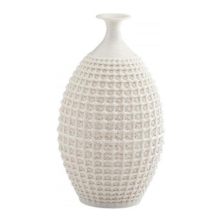 Cyan Designs Matte White 14in. Large Diana Vase