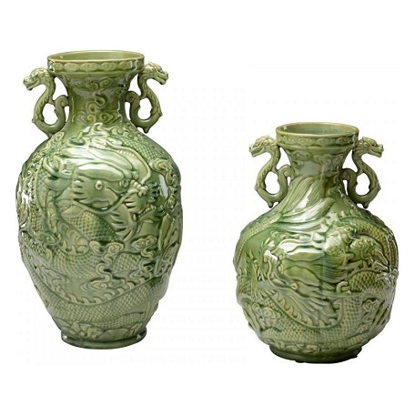 Cyan Designs Green Apple 14in. Small Singapore Vase