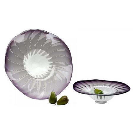 Cyan Designs Purple 18in. Small Art Glass Bowl