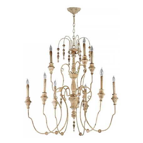 Cyan Designs Persian White 9 Light Up Lighting Chandelier from the Maison Collection