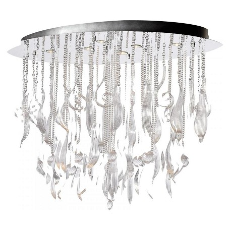 Cyan Designs Chrome and Clear Mirabelle 6 Light Full Size Pendant