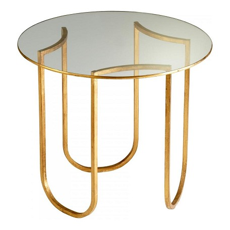 Cyan Designs Gold Leaf Vicente Side Table