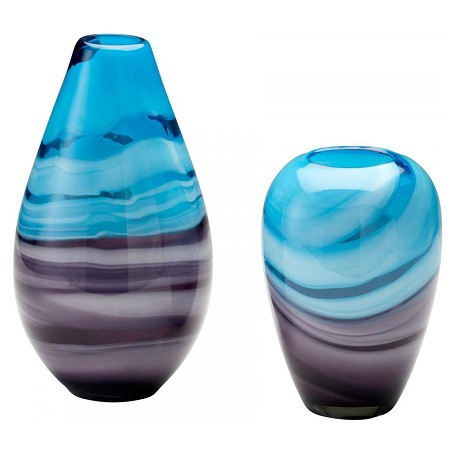 Cyan Designs Turquoise / Purple 13.25in. Tall Callie Vase