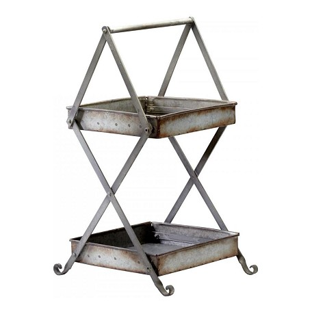Cyan Designs Rustic Iron 2 Shelf Clayton Stand