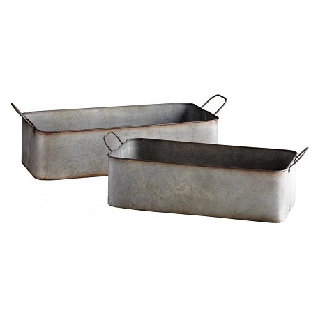 Cyan Designs Rustic Iron 8in. Camden Containers 2 Piece Set