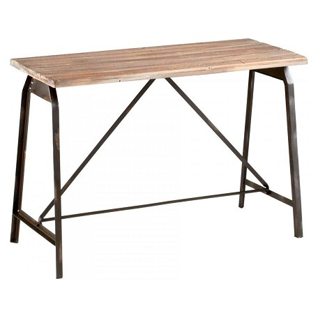 Cyan Designs Raw Iron And Natural Wood Laramie Console
