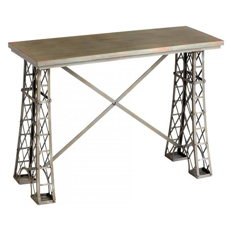 Cyan Designs Raw Steel Vallis Console Table