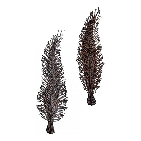 Cyan Designs Walnut Leeky Leaf Wall Decor