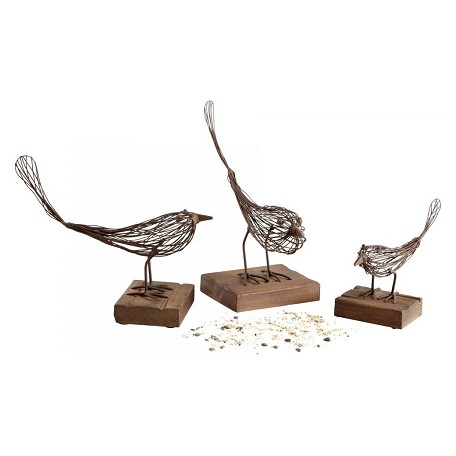 Cyan Designs Rustic 10.25in. Large Birdy Sculpture