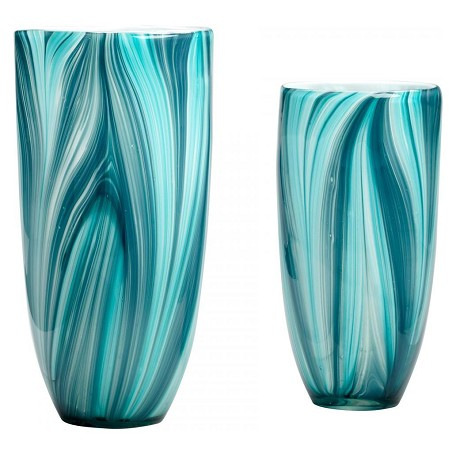 Cyan Designs Turquoise Blue 11.81in. Large Turin Vase
