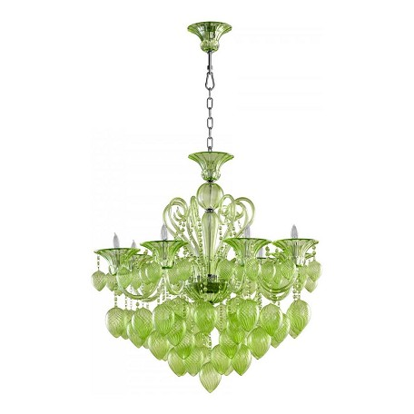 Cyan Designs Green Bella Vetro 8 Light 1 Tier Chandelier