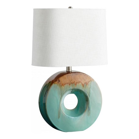 Cyan Designs Blue Glaze and Brown Abelle 1 Light Table Lamp