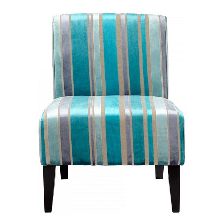 Cyan Designs Turquoise Blue Ms. Stripy Blu Chair