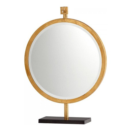Cyan Designs Gold Leaf Westwood Rounded Mirror on Stand