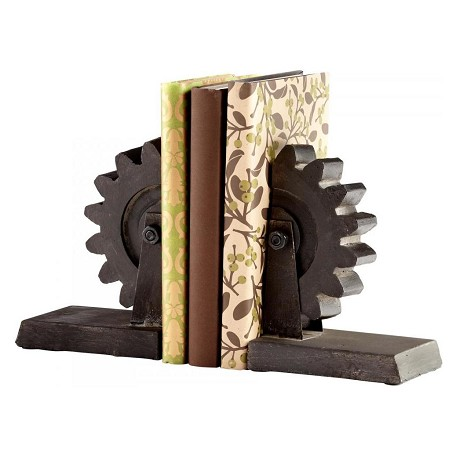 Cyan Designs Raw Steel 7in. Gear Book End