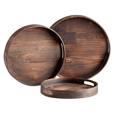 Cyan Designs Walnut 16in. Dupre Trays