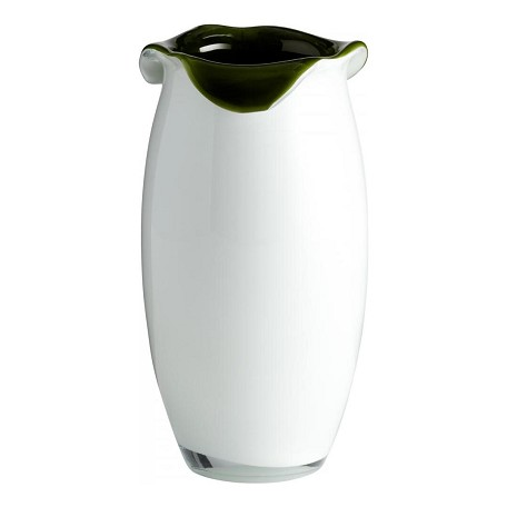 Cyan Designs Olive Green / White 9.5in. Small Villasa Vase