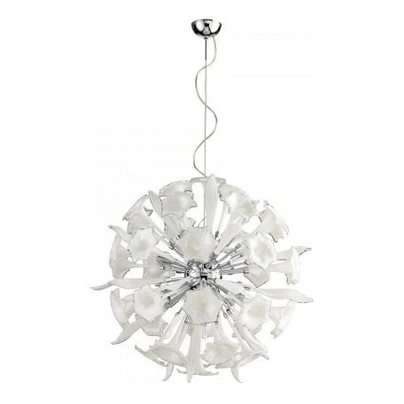 Cyan Designs White and Clear Remyteen 16 Light Full Size Pendant