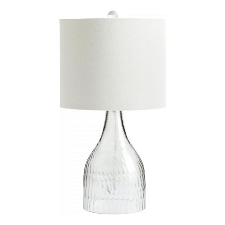 Cyan Designs One Light Clear White Linen And White Lining Inside Shade Table Lamp