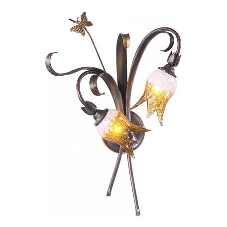 Cyan Designs Venitian Iron 22.75in. Two Lamp Wall Sconce from the Papillion Collection