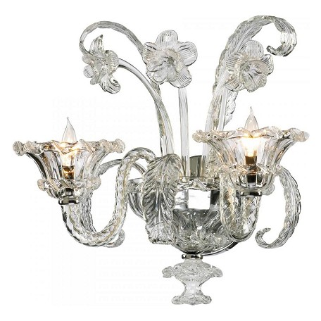 Cyan Designs Clear 17.75in. Two Lamp Wall Sconce from the La Scala Collection