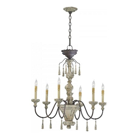Cyan Designs Carraige House 31.75in. Six Lamp Chandelier from the Provence Collection
