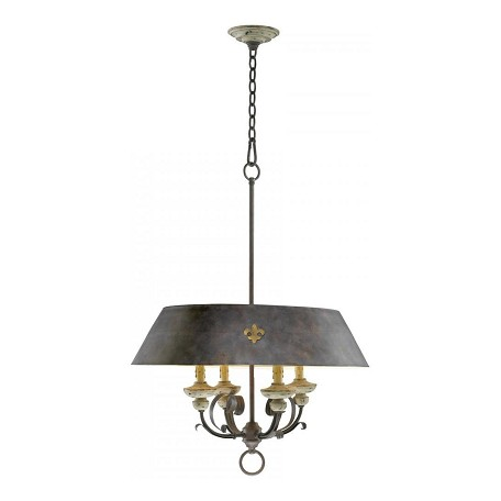 Cyan Designs Carraige House 33.25in. Four Lamp Pendant from the Provence Collection