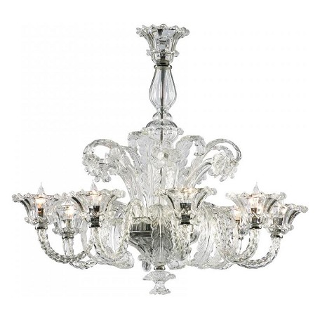 Cyan Designs Clear 30.25in. Eight Lamp Chandelier from the LA SCALA Collection