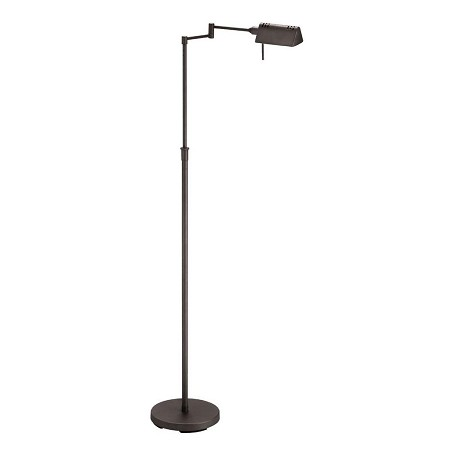 Dainolite dark oil brushed bronze 1 light floor lamp dark for Floor lamp brushed bronze