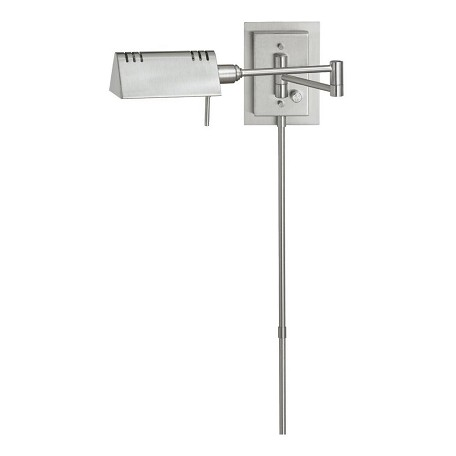 Dainolite Satin Chrome 1 Light Swing Arm Wall Sconce