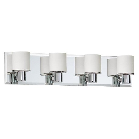 Dainolite Four Light Chrome Vanity