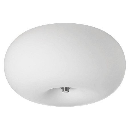 Dainolite Two Light Chrome Bowl Flush Mount