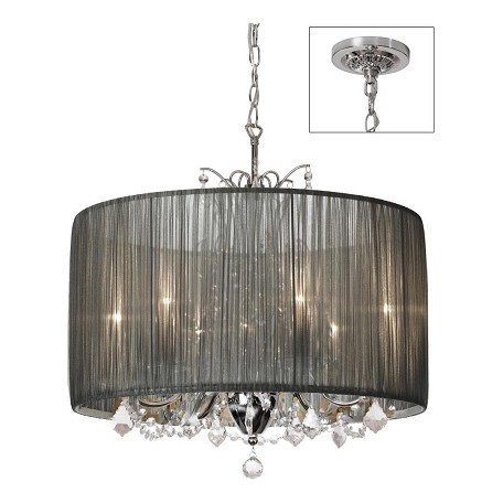 Dainolite Polished Chrome Victoria 5 Light Chandelier