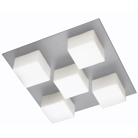 Dainolite Satin Chrome 5 Light Flushmount Ceiling Fixture