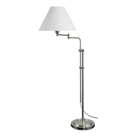 Dainolite Satin Chrome 1 Light Floor Lamp