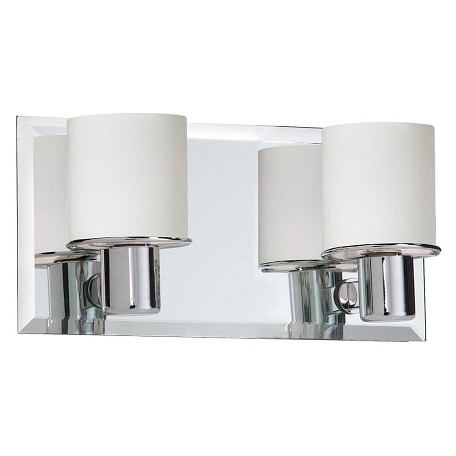 Dainolite Two Light Chrome Vanity