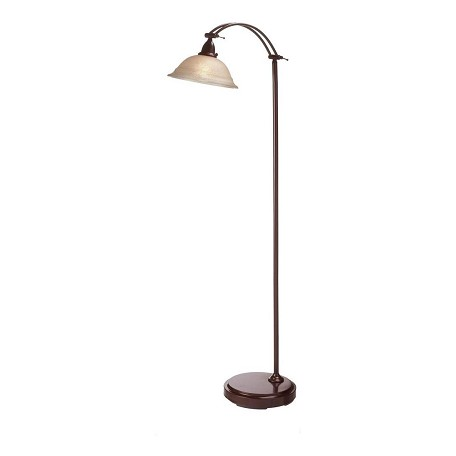 Dainolite Espresso 1 Light Floor Lamp