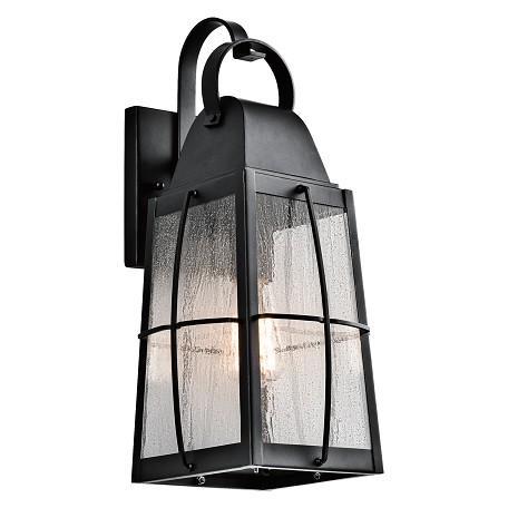 Kichler Textured Black Tolerand Collection 1 Light 17.75In. Outdoor Wall Light