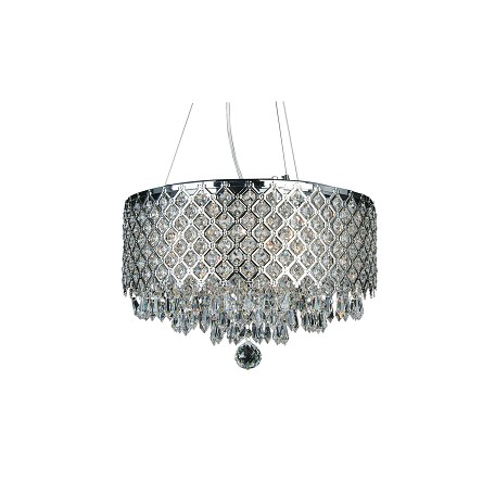 Bethel 6 Light Clear Crystal Round Ceiling Fixture