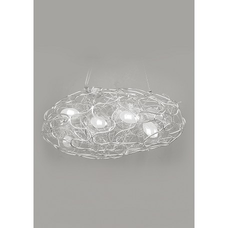 Bethel 8 Light Aluminum Wire Silver Ceiling Fixture
