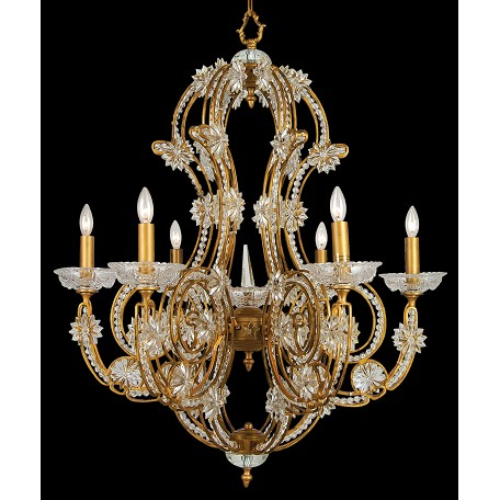 Bethel 6 Light Large Crystal Fixture