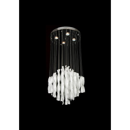 Bethel 4 Light Opaque White Crystal Ceiling Fixture