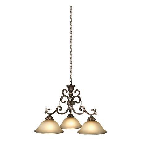 artcraft florence 3 light oiled bronze chandelier ac1828