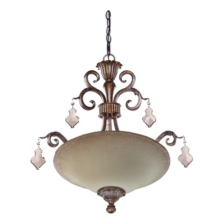 Artcraft Vienna 3 Light  Bronze Pendant