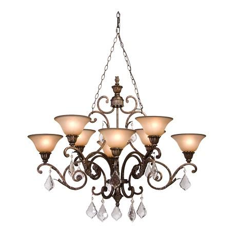 artcraft florence 8 light oiled bronze chandelier ac1848